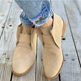 Chunky Heels Ankle Booties