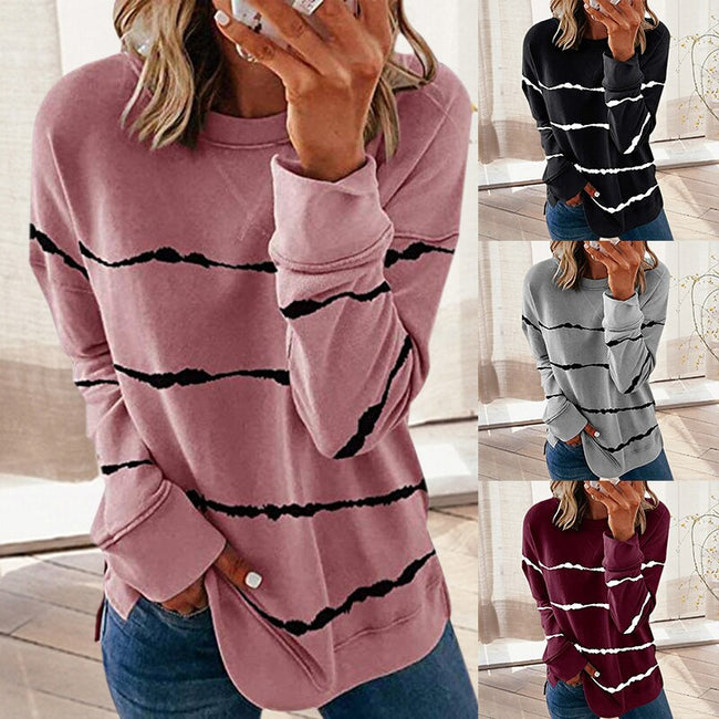 Wild Stripes Round Neck Top