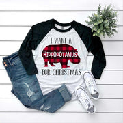 I want a Hippopotamus For Christmas Tee