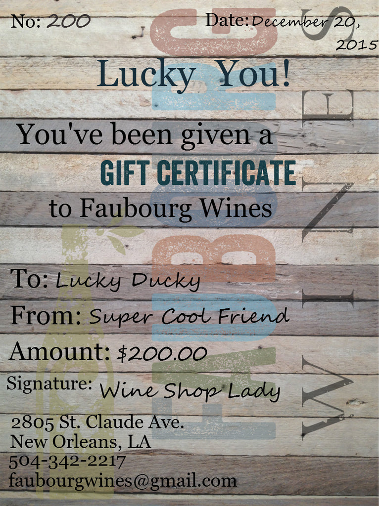 FW Gift Certificate $200