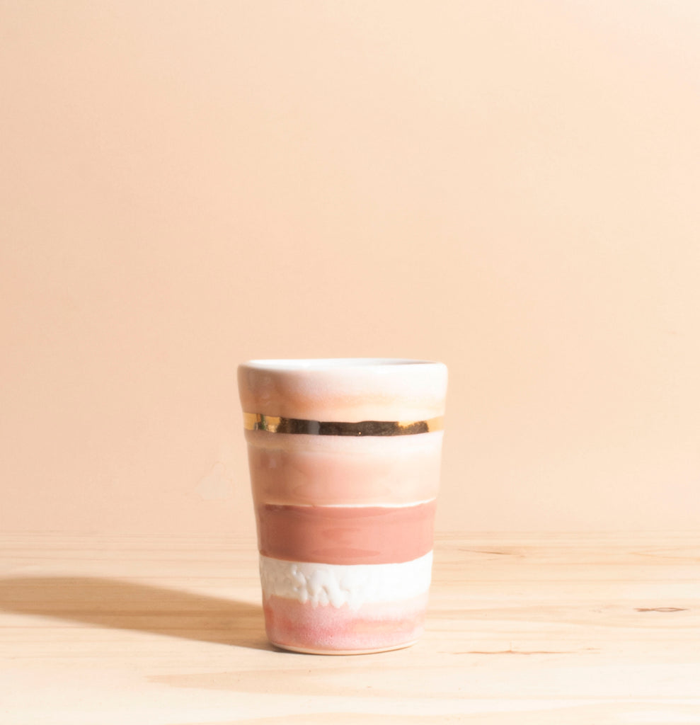Pink & Gold Handmade Ceramic Planter