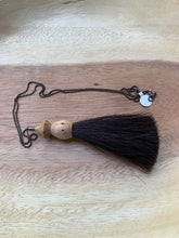 Load image into Gallery viewer, Olio Goods- Handturned Wood Shave and Horsehair Tassel Necklaces