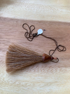 Olio Goods- Handturned Wood Shave and Horsehair Tassel Necklaces