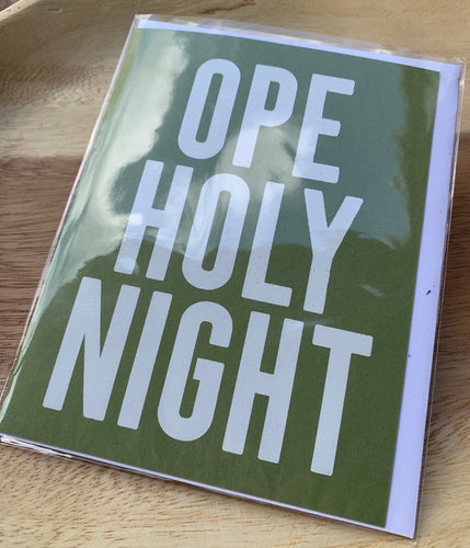 Bright Spots Paper Greeting Card- Ope! Holy Night