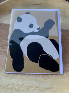Kinaloon Greeting Card-Panda