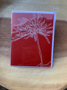 Kinaloon Greeting Card-Chrysanthemum