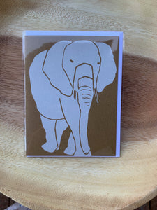 Kinaloon Greeting Card-Elephant
