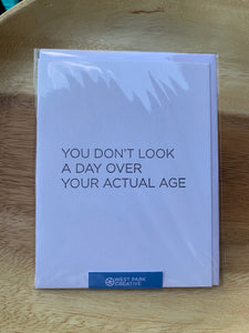 West Park Creative Greeting Card- Actual Age