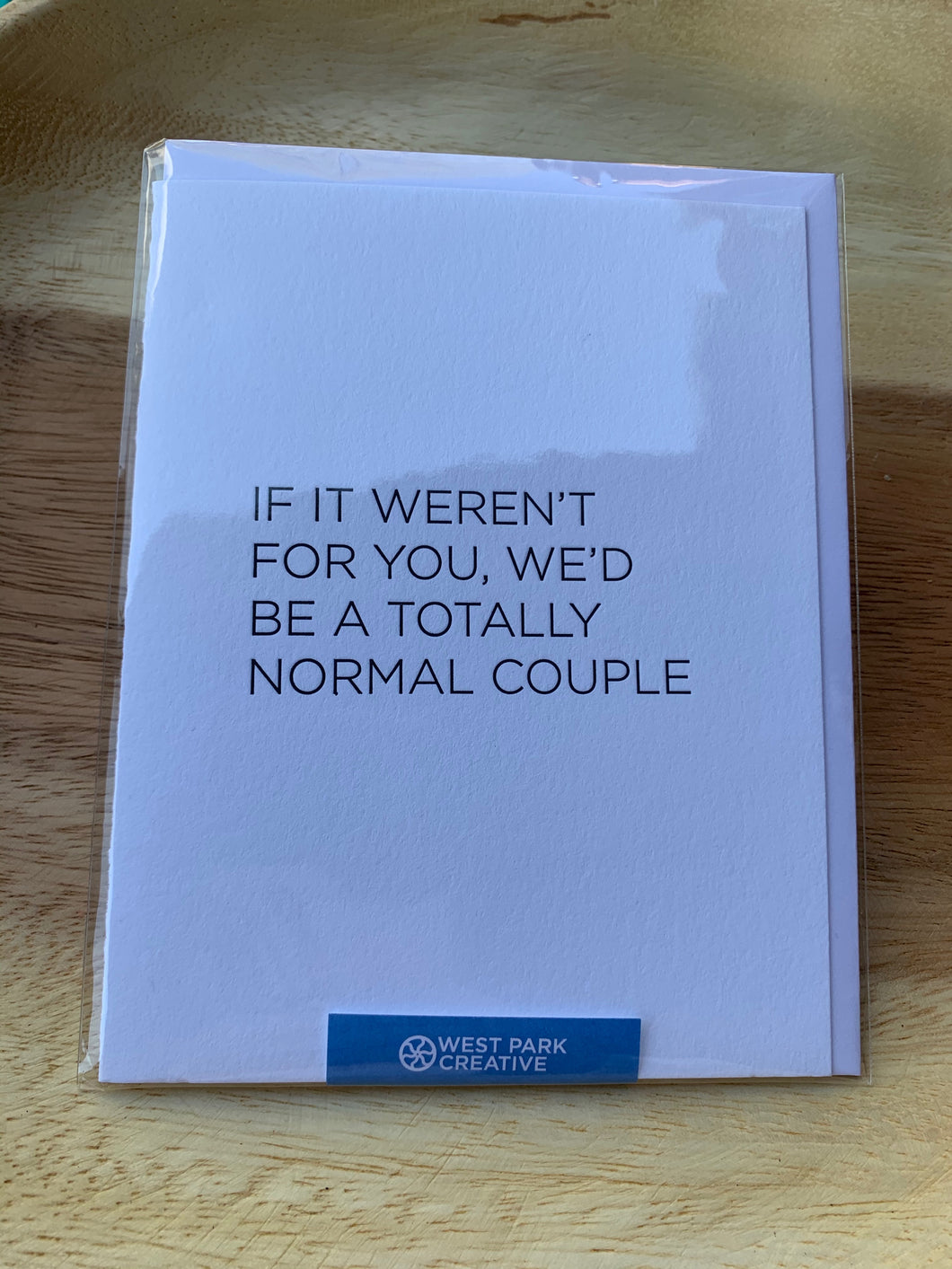 West Park Creative Greeting Card-Normal Couple