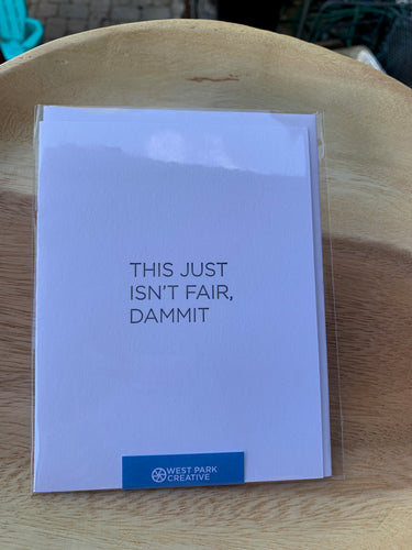 West Park Creative Greeting Card-Dammit