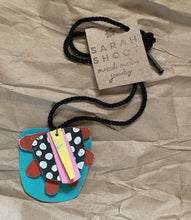 Load image into Gallery viewer, Sarah Shoot Mixed Media- Chunky Totem Necklace on cord