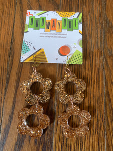 Odd Way Out— Large Double Daisy Earrings