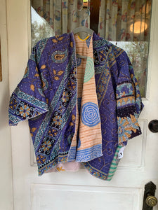 Sennit + Sauvage Kantha Handquilted Jacket- Shortie Length