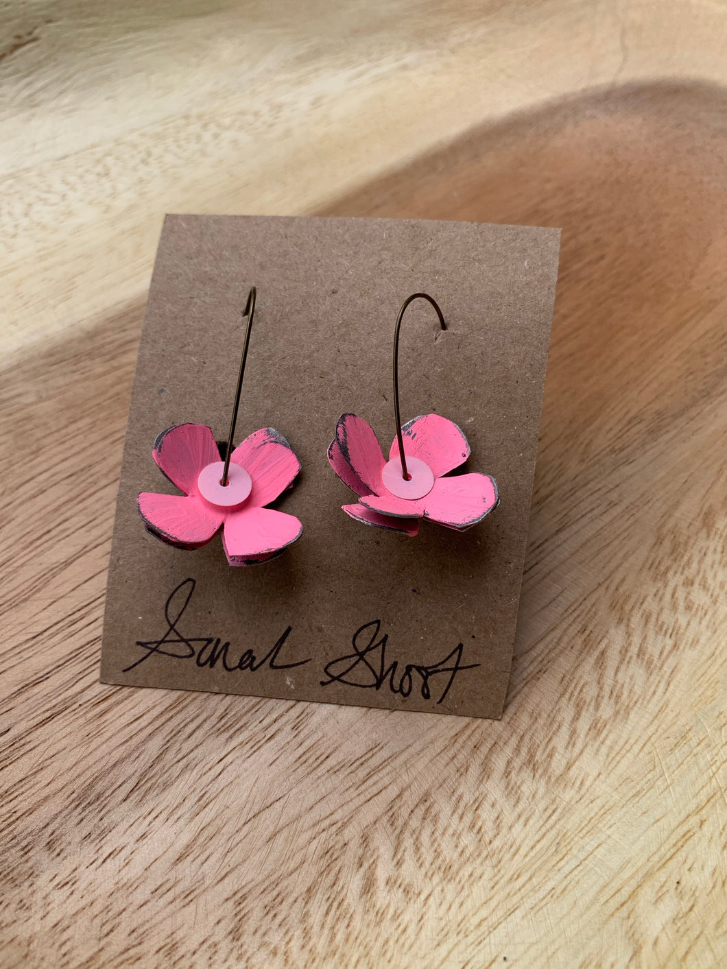 Sarah Shoot Mixed Media Flower Earrings