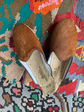 Load image into Gallery viewer, Nidalu Handmade Leather Shoes- Haircalf Slide