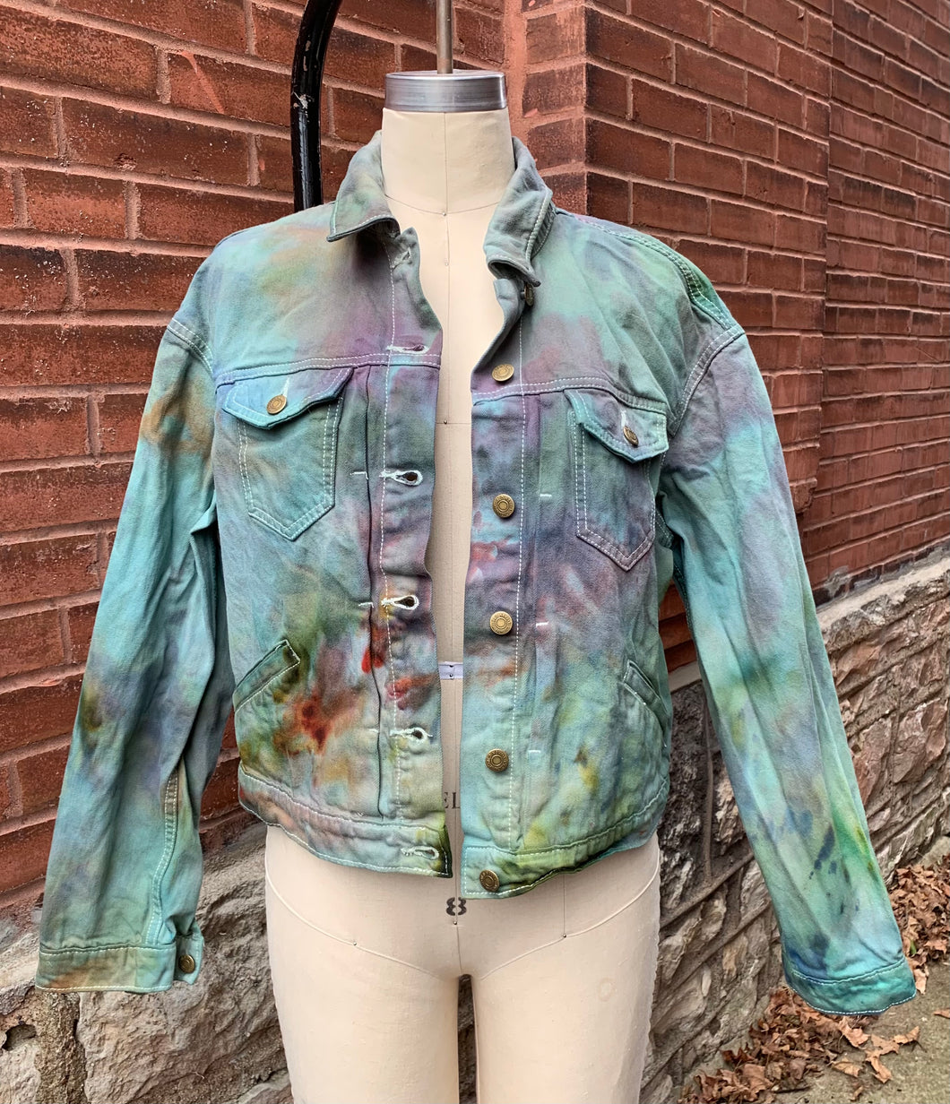 Sennit + Sauvage -IceDyed Denim Jackets for Women