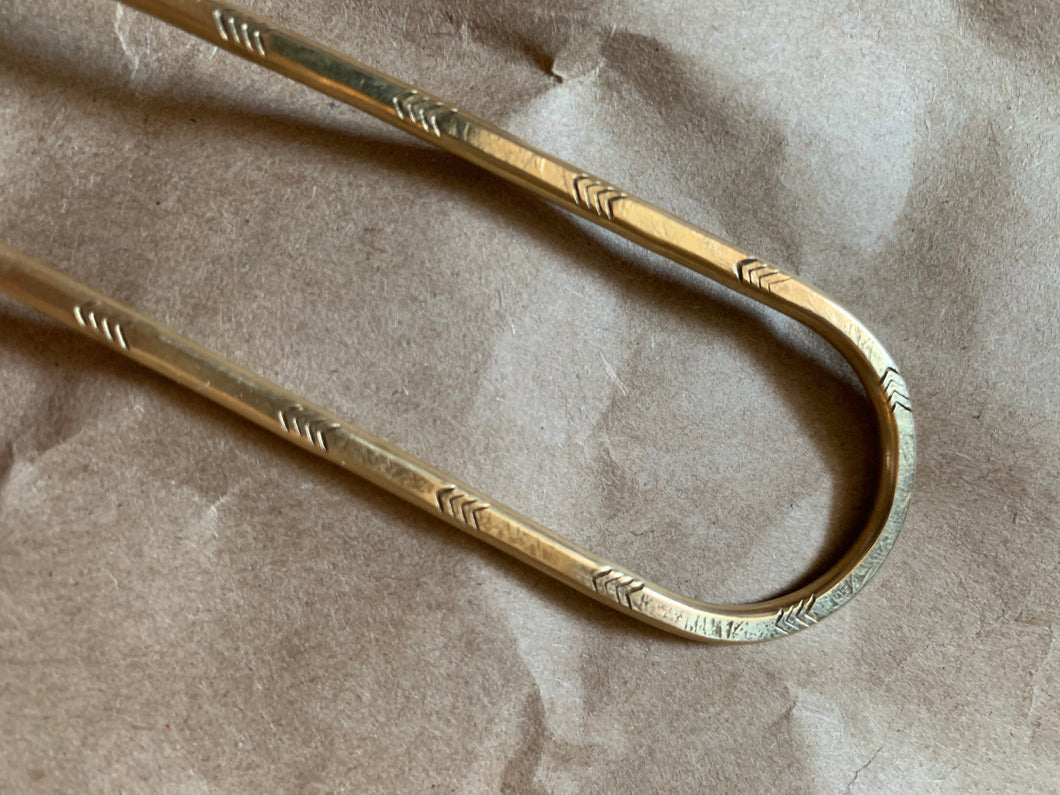 Ann Erickson Brass Hair Pin