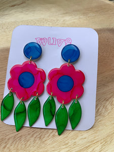 Wuve Handmade Flower Statement Earrings