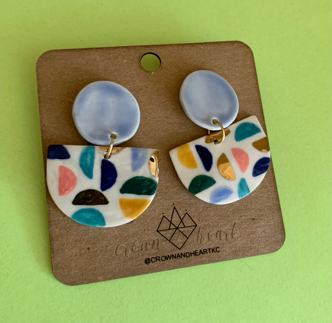 Crown & Heart Mod Statement Earrings