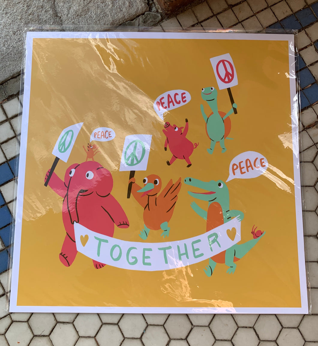 "Katie Schaeffer Illustration ""Together"" Print"