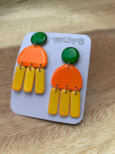 Wuve Handmade Resin Fringe Earrings