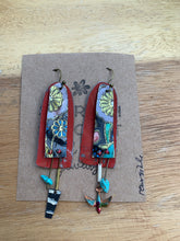 Load image into Gallery viewer, Sarah Shoot Mixed Media Floral Collage Earrings