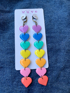 Wuve Handmade Resin Pastel Rainbow Heart Dusters