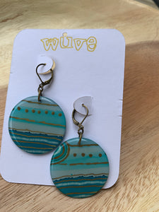Wuve Handmade Resin Lg Rounds Earrings