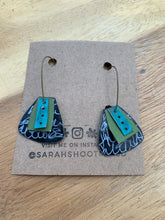 Load image into Gallery viewer, Sarah Shoot Mixed Media Collage Earrings