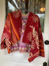 Load image into Gallery viewer, Sennit + Sauvage Kantha Handquilted Jacket- Shortie Length