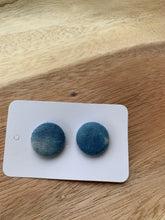 Load image into Gallery viewer, Sennit + Sauvage Handdyed Button Stud  Earrings