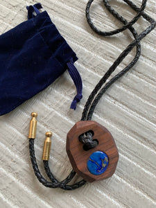 Lost & Found Design Wood Bolo- 1 Stone