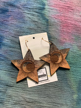 Load image into Gallery viewer, Lost & Found Design Handpainted Wood Earrings