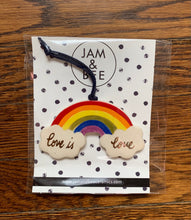 Load image into Gallery viewer, Jam and Bee Ceramics- Rainbow 'Love is Love' Ornaments