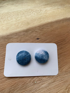 Sennit + Sauvage Handdyed Button Stud  Earrings
