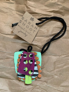 Sarah Shoot Mixed Media- Chunky Totem Necklace on cord