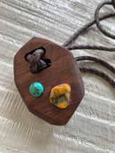 Load image into Gallery viewer, Lost & Found Design Wood Bolo- 2 Stones