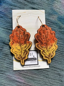 Lost & Found Design Handpainted Wood Earrings