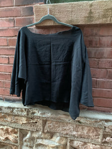 Sennit + Sauvage - Black Sack Top