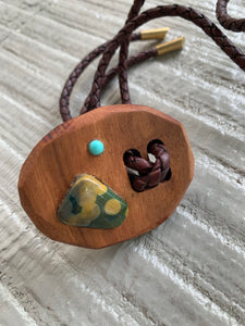 Lost & Found Design Wood Bolo- 2 Stones