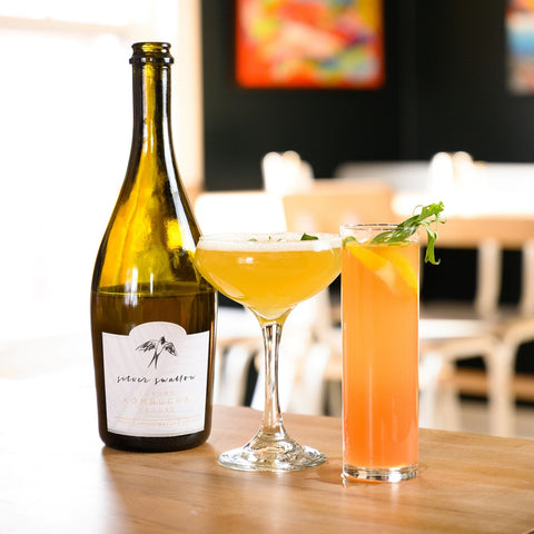 Liquid Asset cocktails made with Silver Swallow Luxury Kombucha