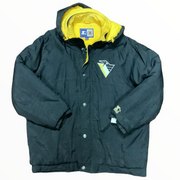 Penguins Button Up Puffer Jacket