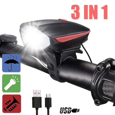 Multifunction Flashlight and Horn