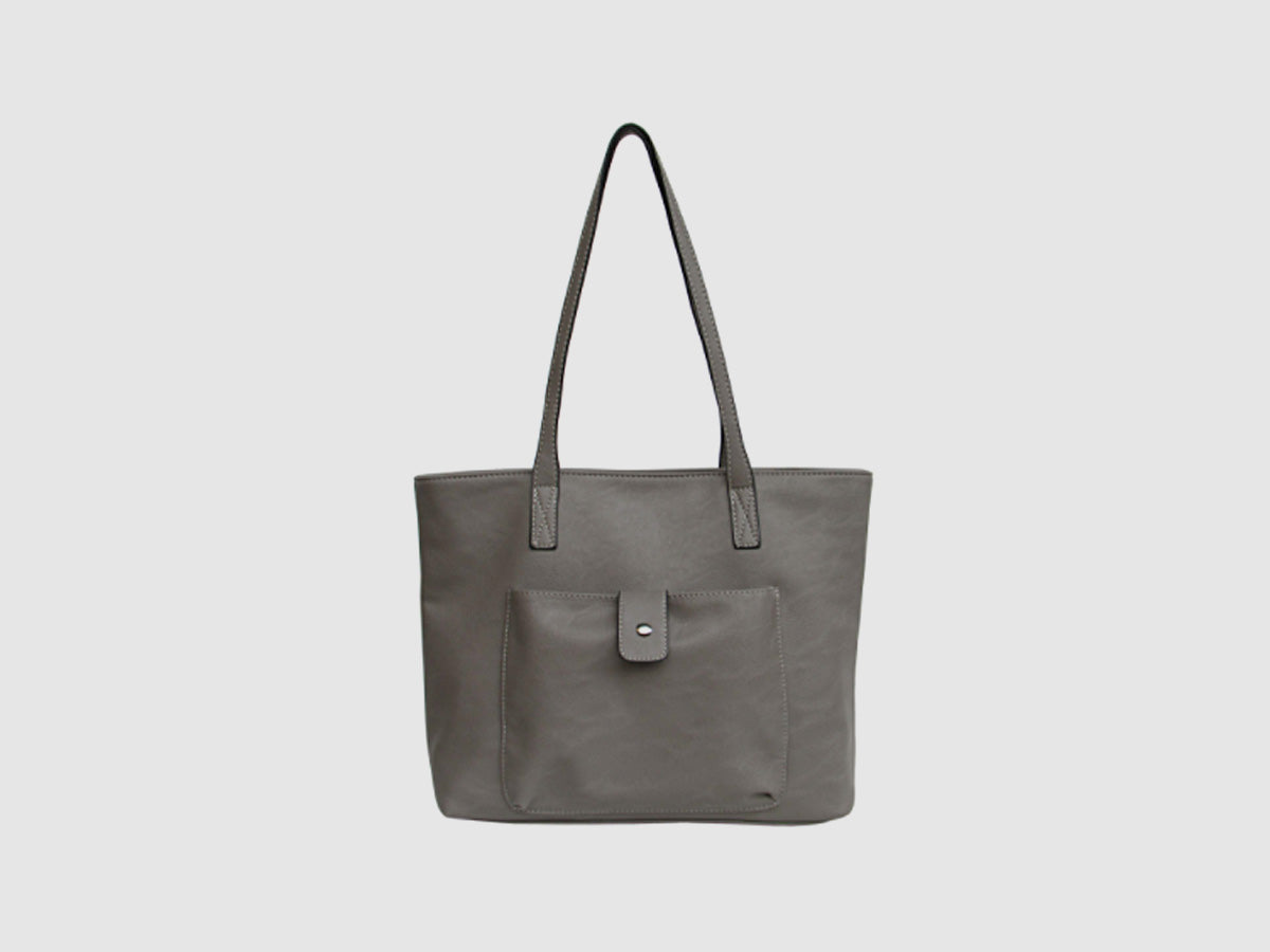 Basic Tote with Front Pocket