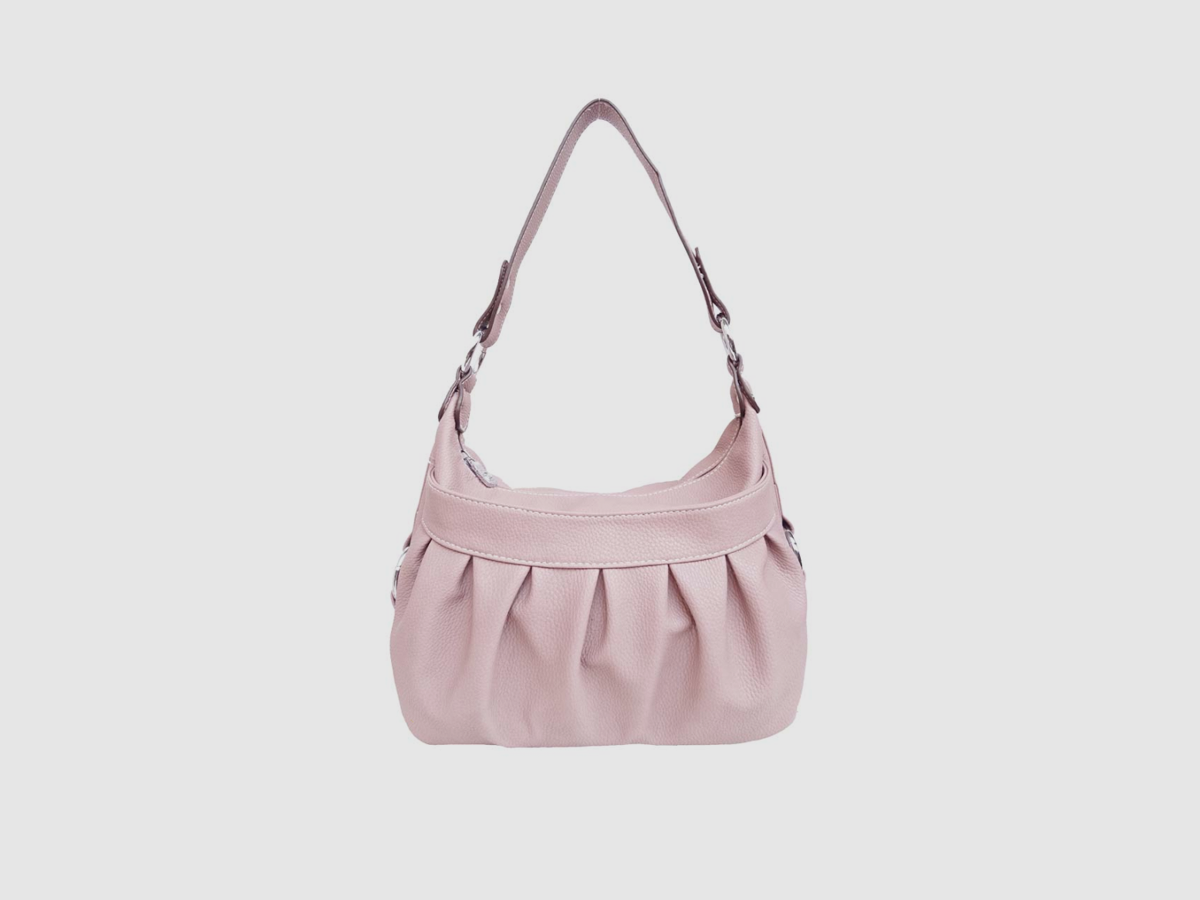 Pleated Crescent Bag