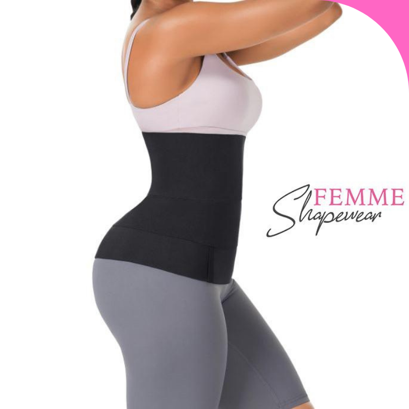 woman with waist trainer