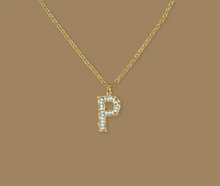 Load image into Gallery viewer, MINI PEARLS alphabet necklace