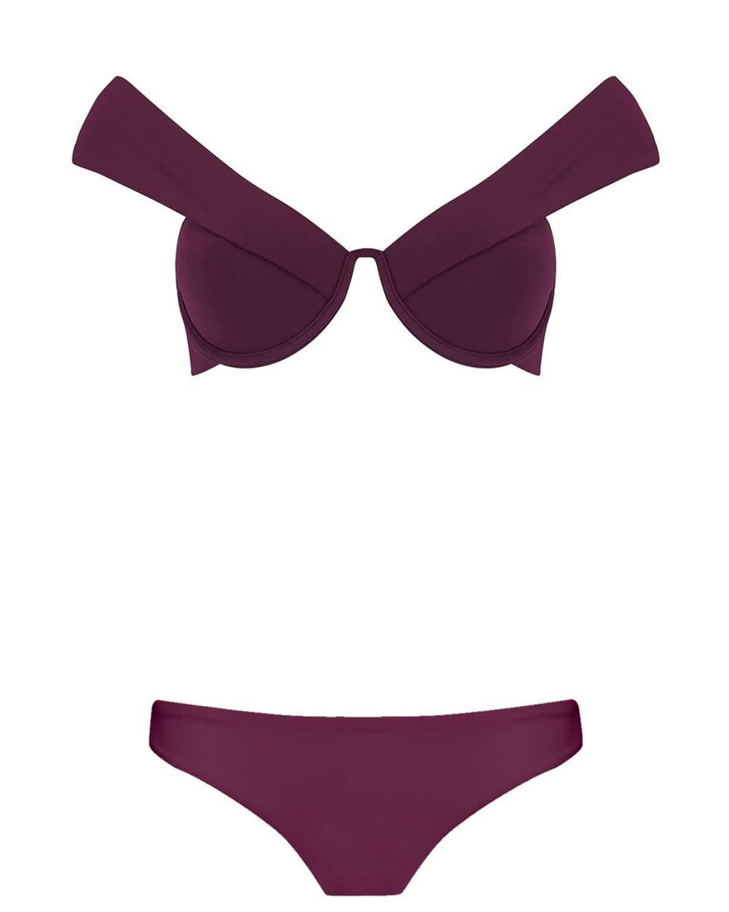 The Seamless Low Rise Brief - Plum