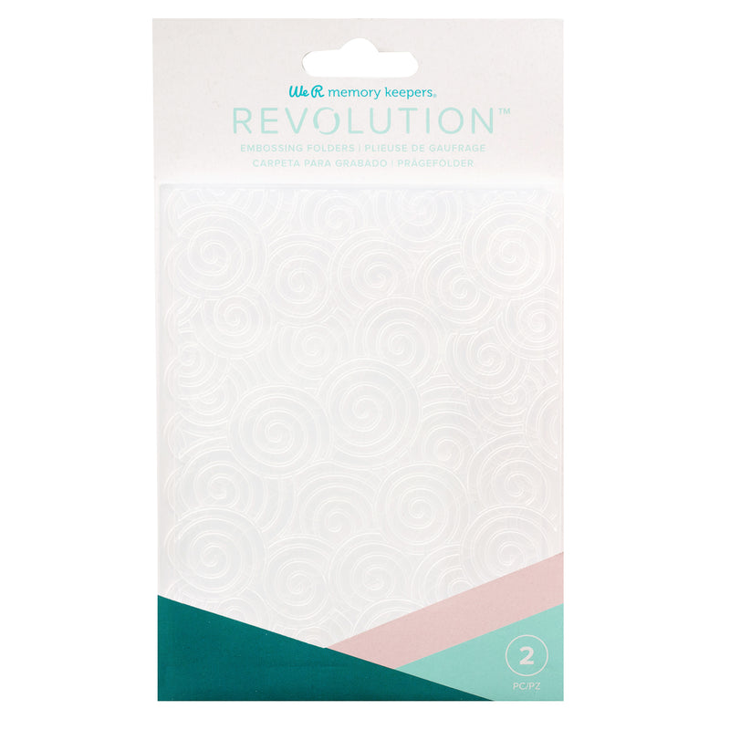 Revolution Embossing Folder Swirls Scallop - Folder de Estampado - WRMK
