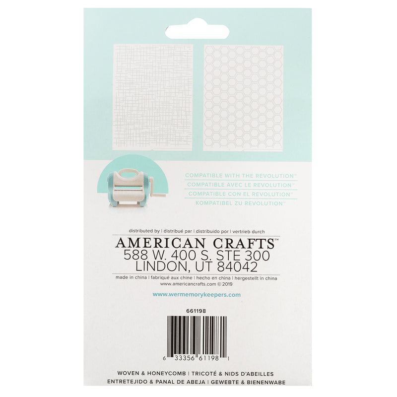 Embossing Folder - HoneyComb - WRMK